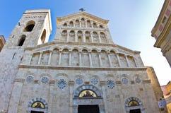Архитектурноакустические детали на входе к собору Кальяри, Сардинии стоковая фотография