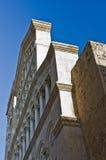 Архитектурноакустические детали на входе к собору Кальяри, Сардинии стоковые фотографии rf