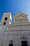 Архитектурноакустические детали на входе к собору Кальяри, Сардинии стоковое фото