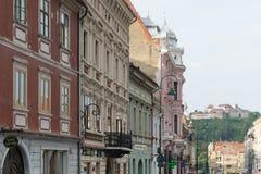Архитектурноакустические здания в Brasov, Трансильвании, Румынии Стоковые Изображения RF