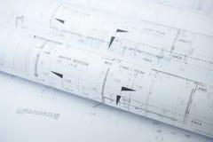 Архитектурноакустические крены рисовальной бумаги жилища для конструкции стоковые изображения rf