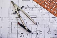 архитектурноакустические крены светокопий Стоковые Фотографии RF
