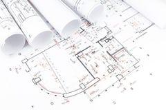 Архитектурноакустические крены светокопий Стоковые Изображения RF