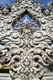 Архитектурноакустические мотивы Таиланд Wat Rong Khun Стоковые Фотографии RF