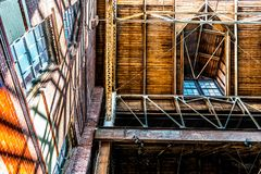 Архитектурноакустические окно в крыше и Dormer склада стоковые изображения