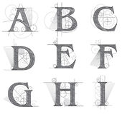 Архитектурноакустические письма для дизайна Стоковое фото RF