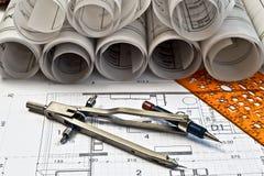 архитектурноакустические светокопии Стоковые Изображения