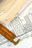 архитектурноакустические светокопии стоковое фото rf