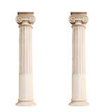 Архитектурноакустические столбцы изолированные на белой предпосылке Стоковые Фотографии RF