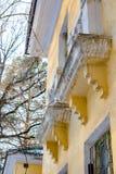 Архитектурноакустические элементы подпорки для балкона Obninsk, Россия стоковое изображение rf