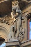 Архитектурноакустические элементы фасада здания в историческом центре чехии Праги стоковые фотографии rf