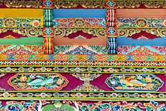 архитектурноакустический декоративный тибетец ornamentation Стоковое Изображение