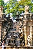 Архитектурноакустический исторический памятник, фонтан нимф в немецком городе Дрездена Стоковая Фотография