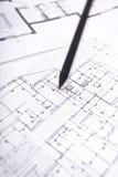 архитектурноакустический план карандаша дома жилища иллюстрация вектора