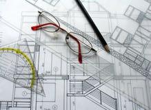 архитектурноакустический план стоковые фотографии rf