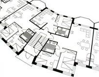 архитектурноакустический план стоковая фотография rf