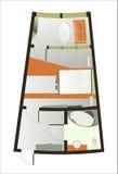 Архитектурноакустический план комнаты стоковое изображение rf