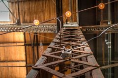 Архитектурноакустический стальной луч поддержки стоковые фото