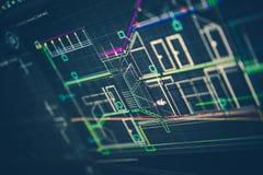 Архитектурноакустический технический чертеж Стоковое Фото