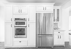 Архитектурноакустический чертеж иллюстрации кухни Стоковые Фотографии RF