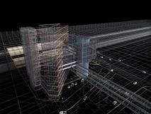 Архитектурноакустический чертеж концепции Стоковые Изображения