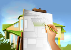 архитектурноакустический чертеж Стоковая Фотография RF