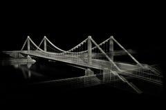 архитектурноакустический эскиз bw моста Стоковое Изображение