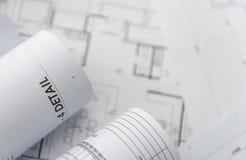 Архитектурноакустический для чертежей конструкции Стоковые Фотографии RF