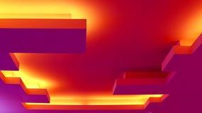 Архитектурноакустическое абстрактное приспособление потолочного освещения Стоковые Изображения