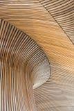 архитектурноакустическое здание агрегата детализирует welsh Деревянные планки Стоковые Изображения