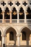 архитектурноакустическое palazzo s venice doge детали Стоковое Изображение RF