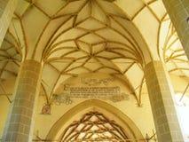 Архитектуры Трансильвании церковь-крепости Biertan бог потолка собора здания средневековой внутренней красивый готический крытый  стоковые фотографии rf