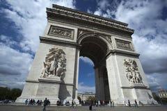Арч Де Триомпюе, Париж, Франция Стоковое Фото