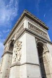 Арч Де Триомпюе в Париж Стоковая Фотография