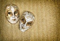 Арлекин маски масленицы Марди Гра сбор винограда типа лилии иллюстрации красный Стоковое Изображение