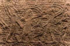 Ассирийская форма искусства 645 до 635 ДО РОЖДЕСТВА ХРИСТОВА Стоковые Фотографии RF