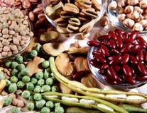 Ассортимент высушенных legumes Стоковые Фотографии RF