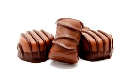 Ассортимент изолированных помадок конфет шоколада Стоковые Изображения RF
