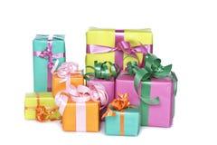 ассортимент кладет подарок в коробку стоковая фотография