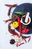 Ассортимент перцев горячего chili Стоковые Фотографии RF