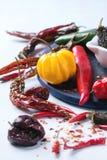 Ассортимент перцев горячего chili Стоковые Изображения