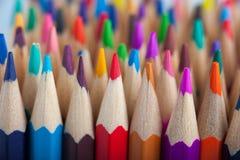 Ассортимент пестротканых деревянных карандашей Стоковое Фото