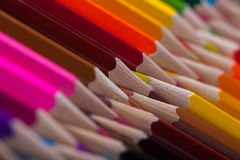 Ассортимент пестротканых деревянных crayons Стоковое фото RF