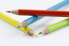 Ассортимент покрашенных карандашей Стоковая Фотография RF