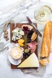 Ассортимент плиты сыра различных типов сыра Стоковые Фото