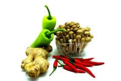 Ассортимент свежих овощей на белой предпосылке Стоковое Изображение