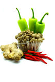 Ассортимент свежих овощей на белой предпосылке Стоковые Изображения