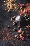 Ассортимент сухого чая Стоковая Фотография