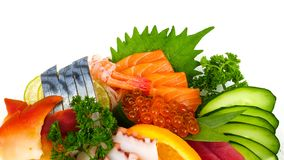 Ассортимент сырцового продукта моря Стоковое фото RF