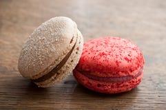 Ассортимент французских macarons Стоковые Изображения RF